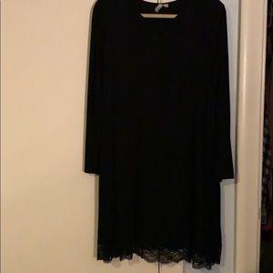 ASOS lace trim shift dress